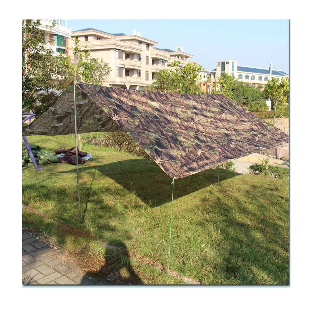 LIUSIYU Camping Zelt Tarps 3m x 3m, Wasserdichte Hängematte Regenfliege Zelt Plane, tragbare Lightweigh Ripstop Sunshadeg für Reisen Wandern Rucksack Angeln