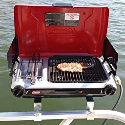 Amazon.com : Arnall's Pontoon Grill Bracket Set : Boating ...