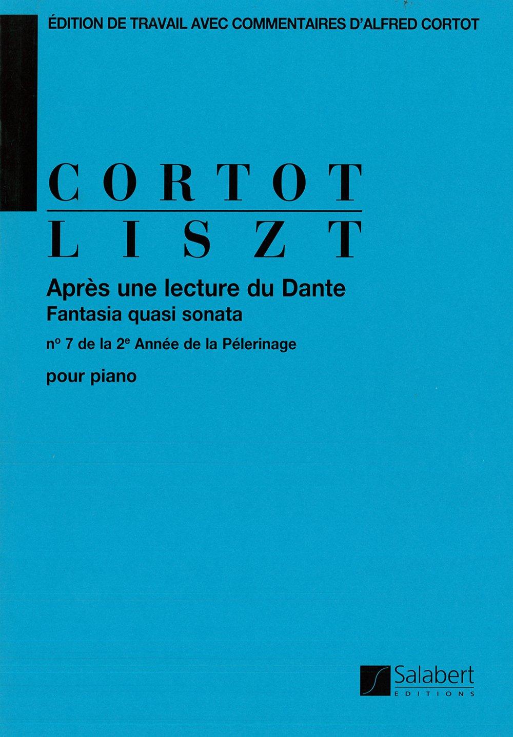 Après une Lecture du Dante, Fantasia Quasi Sonata Piano Spartito musicale – 1 gen 1984 Franz Liszt SALABERT 0048042072 Musique - danse