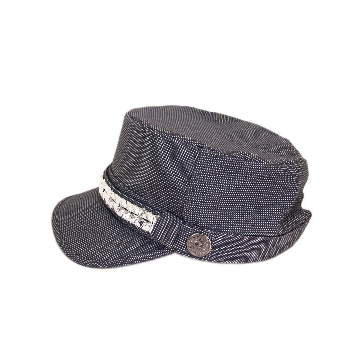 050e91b6aee Adjustable Cotton Military Style Studded Bling Army Cap
