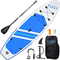 TUSY 10.6'/10' Inflatable Stand Up Paddleboards with SUP Accessories Travel Carry Bag, Non-Slip Deck Adjustable Paddles…