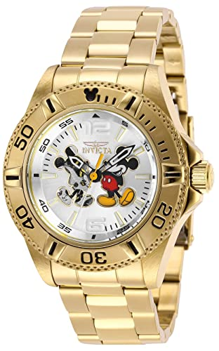 bb6d3781a27 Invicta 27409 Disney Limited Edition Mickey Mouse Men s Wrist Watch Stainless  Steel Automatic Silver Dial  Amazon.co.uk  Watches
