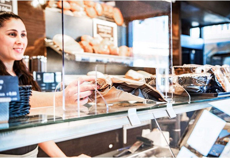 praxy Schutzscheibe Thekenschutz Thekenaufsatz Plexiglas Spuckschutz Scheibe Hustenschutz Thekenaufsteller f/ür jeden Tresen sicherer Stand TRENNplex H 70 cm x B 90 cm x T 24 cm p
