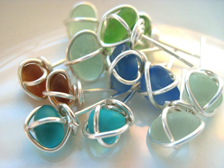 Sea Glass Earrings seaglass earrings mom gift nova scotia sea glass jewelry beachy earrings maritime jewelry genuine sea glass