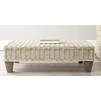Amazing Amazon.com: Safavieh Home Collection Leary Wicker Bench, Washed Natural:  Kitchen U0026 Dining