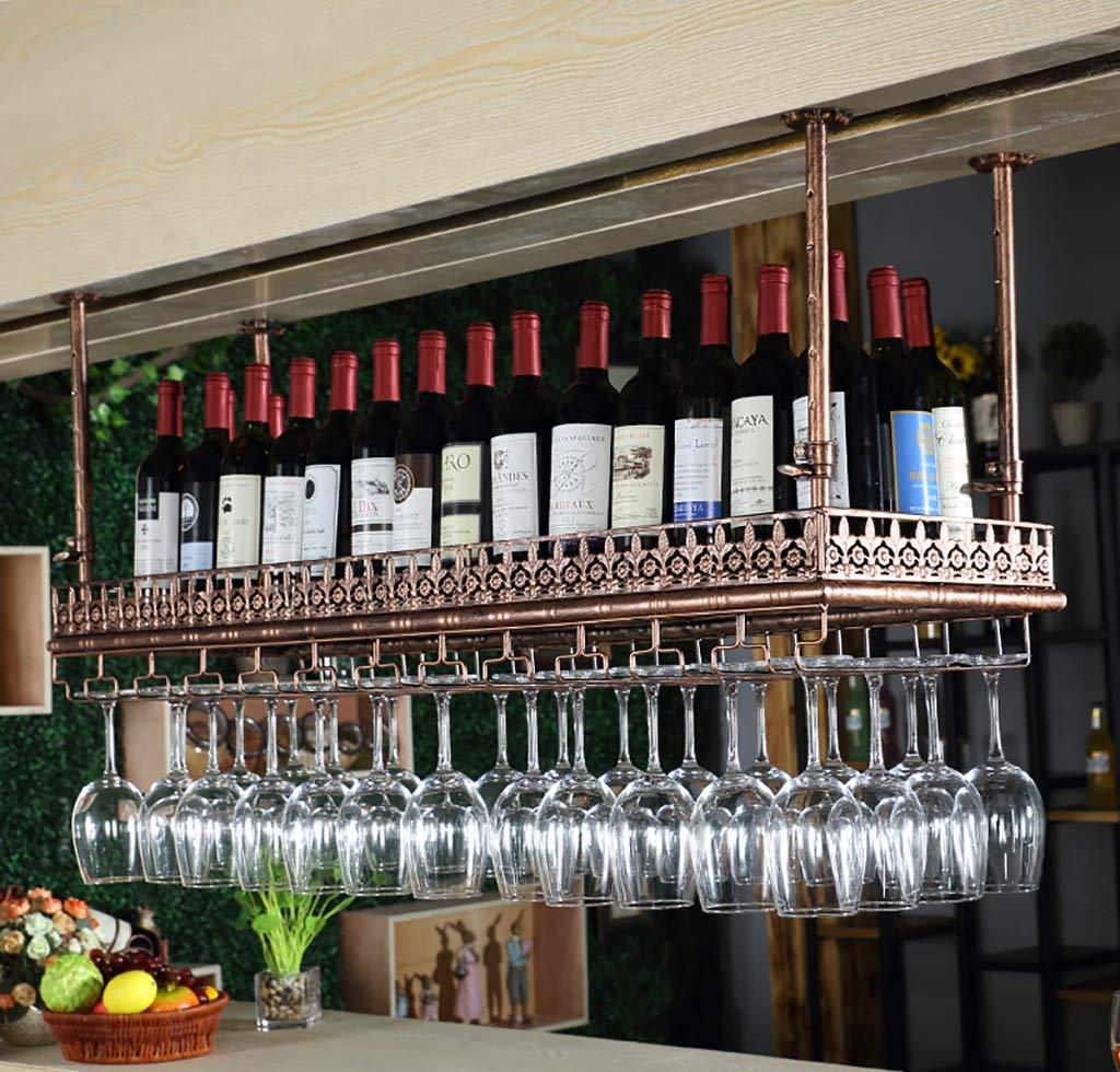 ワインラック ワイングラスラックワイングラスラック吊り下げバーワイングラスラックゴブレットラッククリエイティブヨーロッパのワイングラスラック (色 : B, サイズ さいず : 120x35cm) B07RKN5H3J B 120x35cm