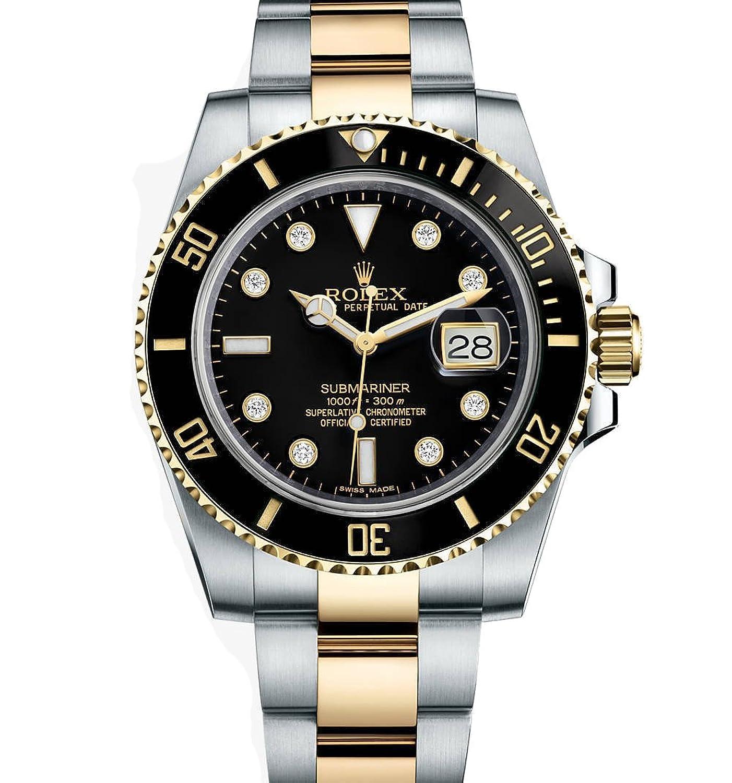 (ロレックス サブマリーナー) Rolex Submarinerイエローゴールド腕時計 ステンレス鋼 ダイヤモンドダイヤル116613 B003D0U37O