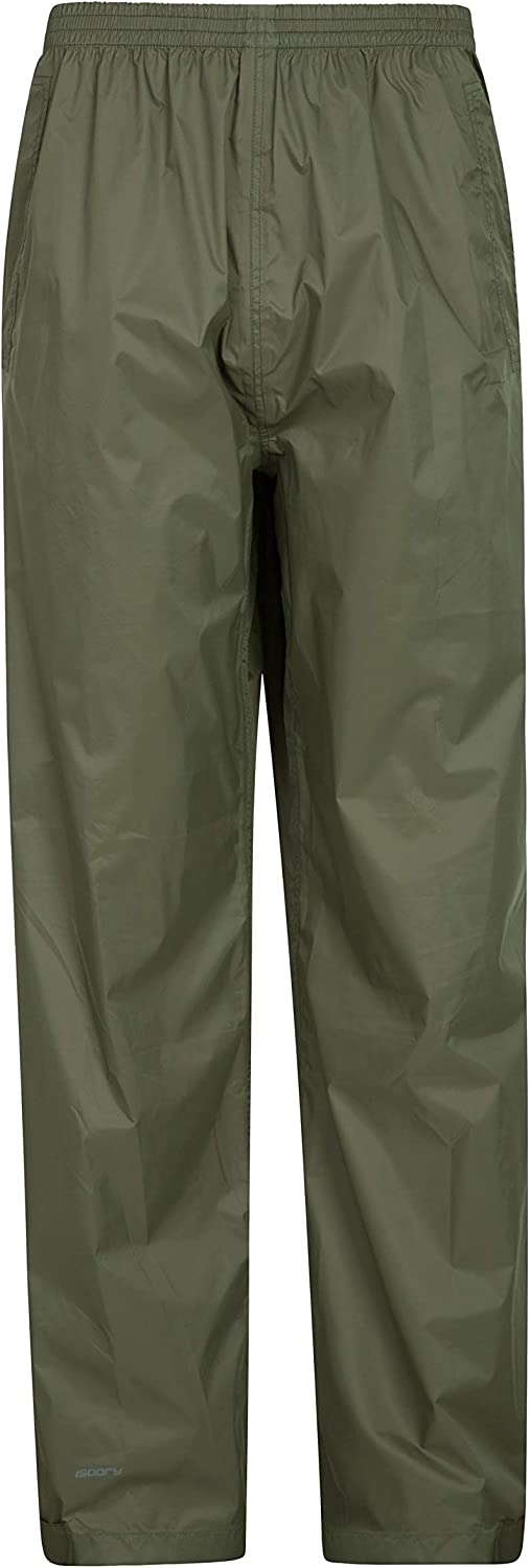 Mountain Warehouse Mens Overtrousers Waterproof Isodry Fabric with Taped Seams