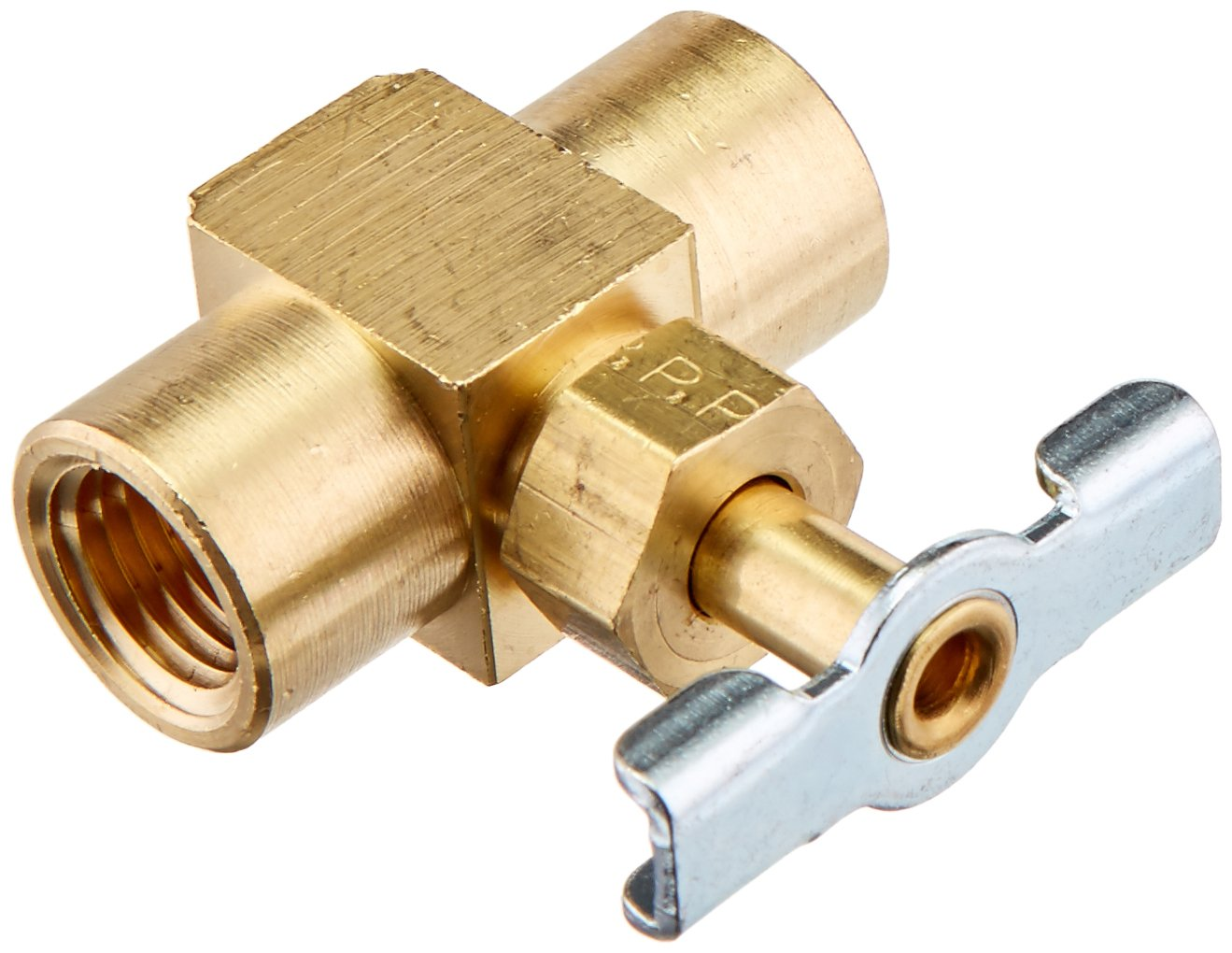 Parker Hannifin NV109P-4 Series NV109 Brass Needle Valve 1//4 Female Pipe x 1//4 Male Pipe