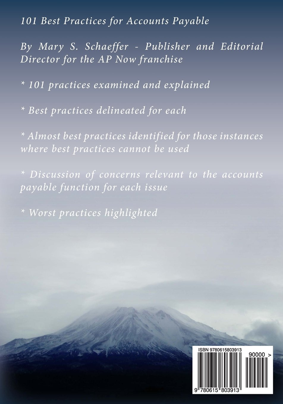 101 Best Practices for Accounts Payable: Amazon.co.uk: Mary S Schaeffer:  9780615803913: Books