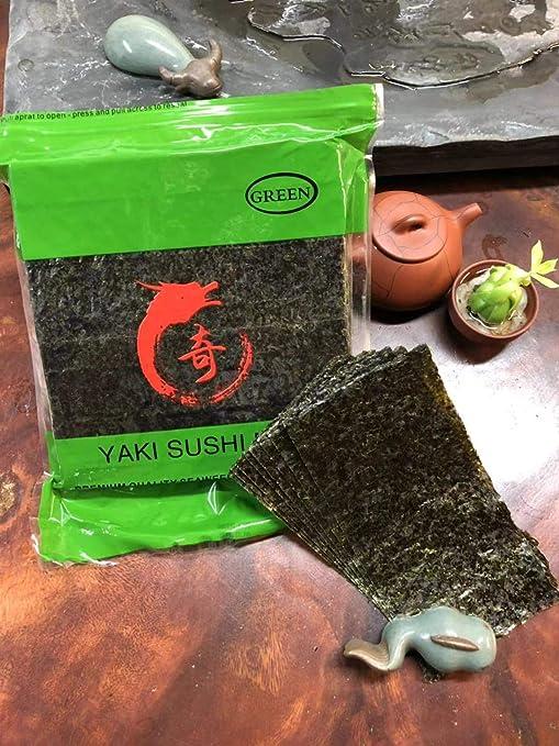HCK Yaki Sushi Nori - Lote de 50 algas orgánicas de alta ...