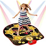 SUNLIN Dance Mat for Kids - Electronic Light Up Dance Game Pad with Built-in & External AUX Music - Indoor Party Dancing Mixe