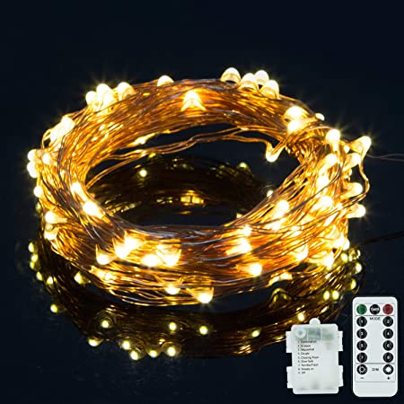1-10M LED Battery Operated Copper Wire String Fairy Lights Christmas Decor Lamp