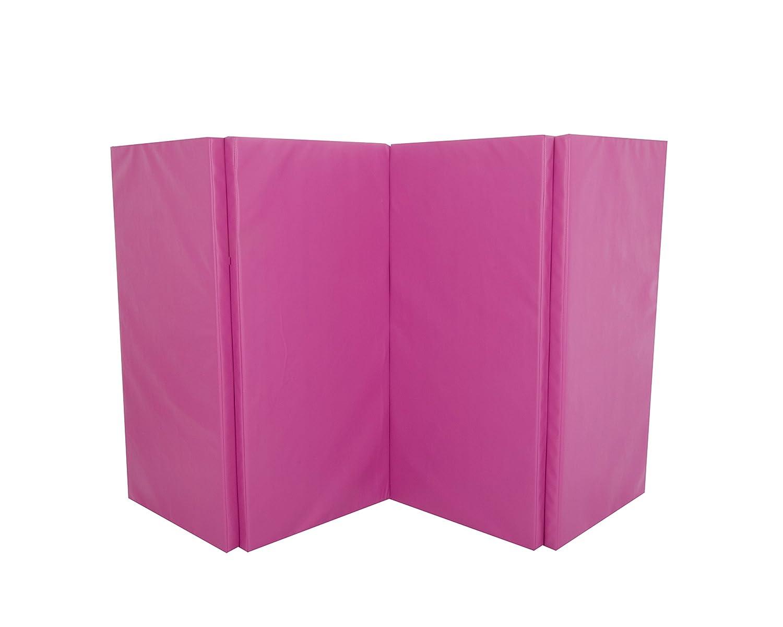 Cannons UK Unisexs Foldable Gymnastics Mat-Pink 8 4 ft x 50 mm