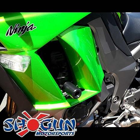 2011-2016 Kawasaki Ninja 1000 White No Cut Frame Sliders - 750-4810 - MADE IN THE USA