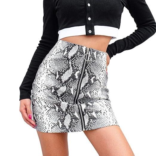 24ff13904703e WM   MW Fashion Mini Skirt for Teen Girl Women Sexy Snake Print PU Leather  Ring