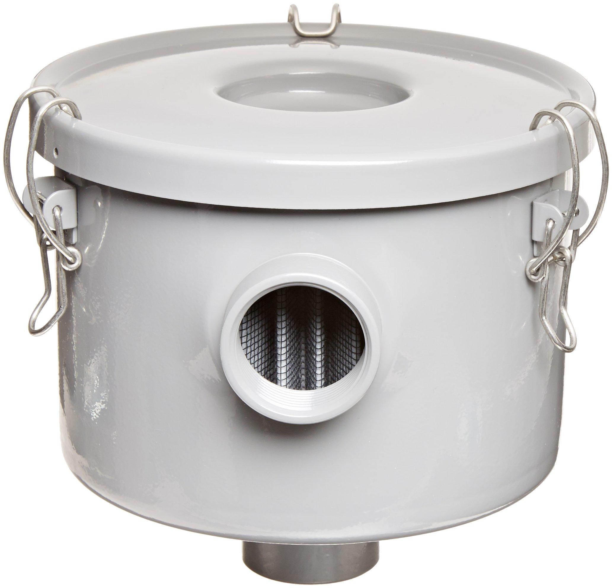 Solberg CSL-849-125HC Inlet Filter, 1-1/4'' FPT Inlet/Outlet, 6-3/4'' Height, 7-5/16'' Diameter, 60 SCFM