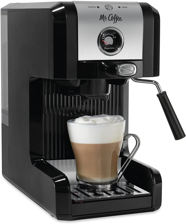 Mr. Coffee Easy Seasonal Wrap Introduction Time sale Maker Authentic Pump Espresso 6 Machine Piece