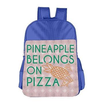 Mskifnaf piña Belongs on Pizza niños Mochilas Escuela Bolsas para niños niños Bolso de Hombro para niños niñas: Amazon.es: Hogar
