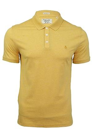 ORIGINAL PENGUIN Camisa de Jaspe Polo para Hombre Amarillo Brillo ...