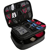 ProCase Electronics Travel Organizer Storage Bag, Double Layer Universal Traveling Gear Accessories Carrying Cover Pouch for