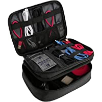 ProCase Electronics Travel Organizer Storage Bag, Double Layer Universal Traveling Gear Accessories Carrying Case Pouch…
