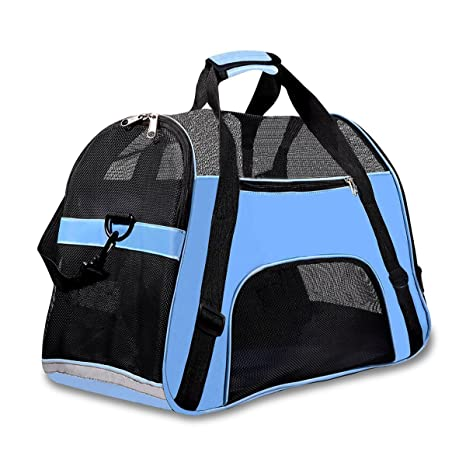 c7124edcbe Amazon.com : Soft Sided Pet Carrier for Dogs Cats Puppies 17