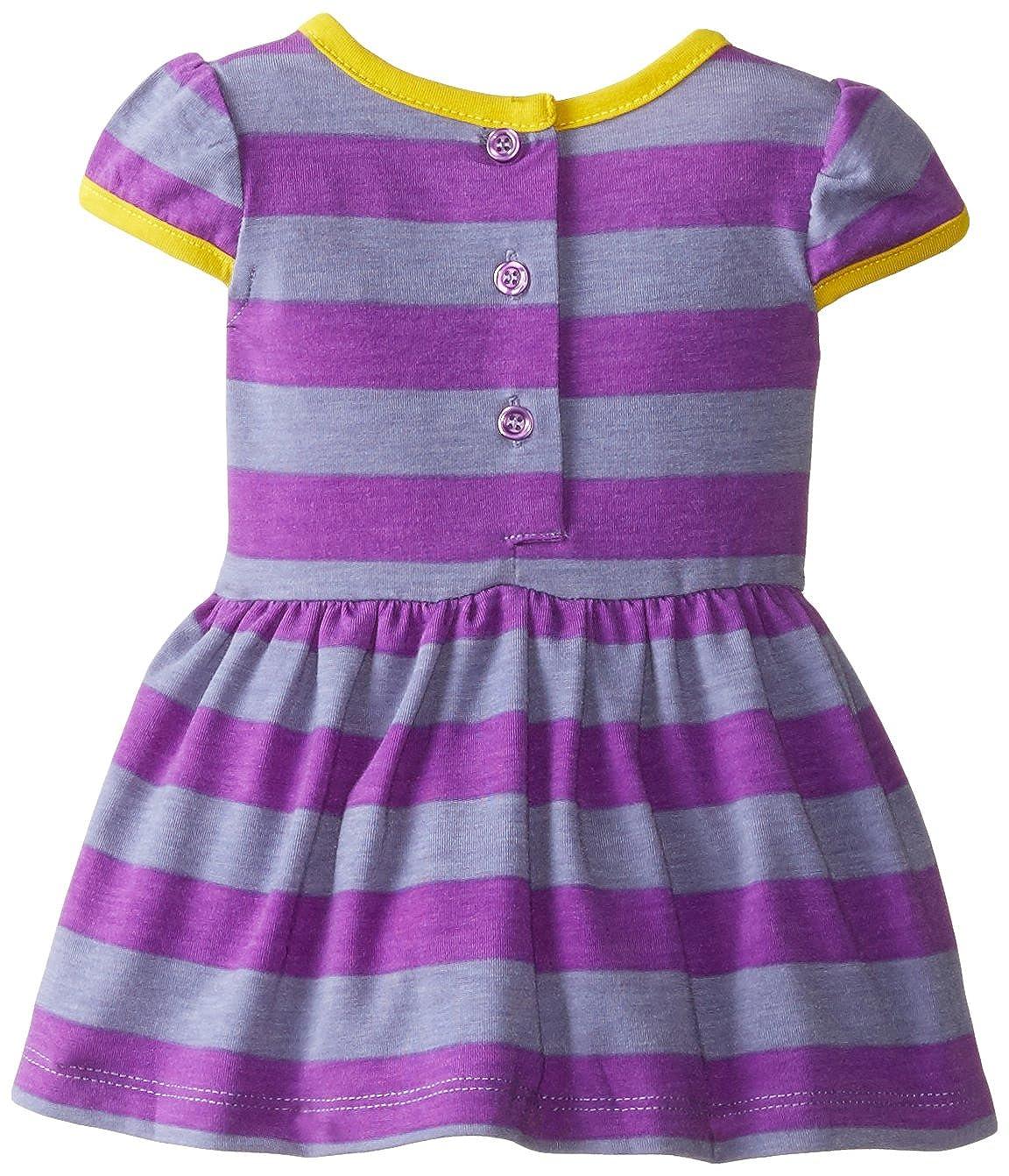 b913db4fed8a Amazon.com  Marmellata Girls  Baby-Newborn Purple Striped Knit Dress ...