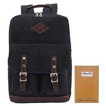 8488fdce7f KAUKKO Scuola Zaino per Laptop fino a 15 pollici (Nero): Amazon.it:  Abbigliamento