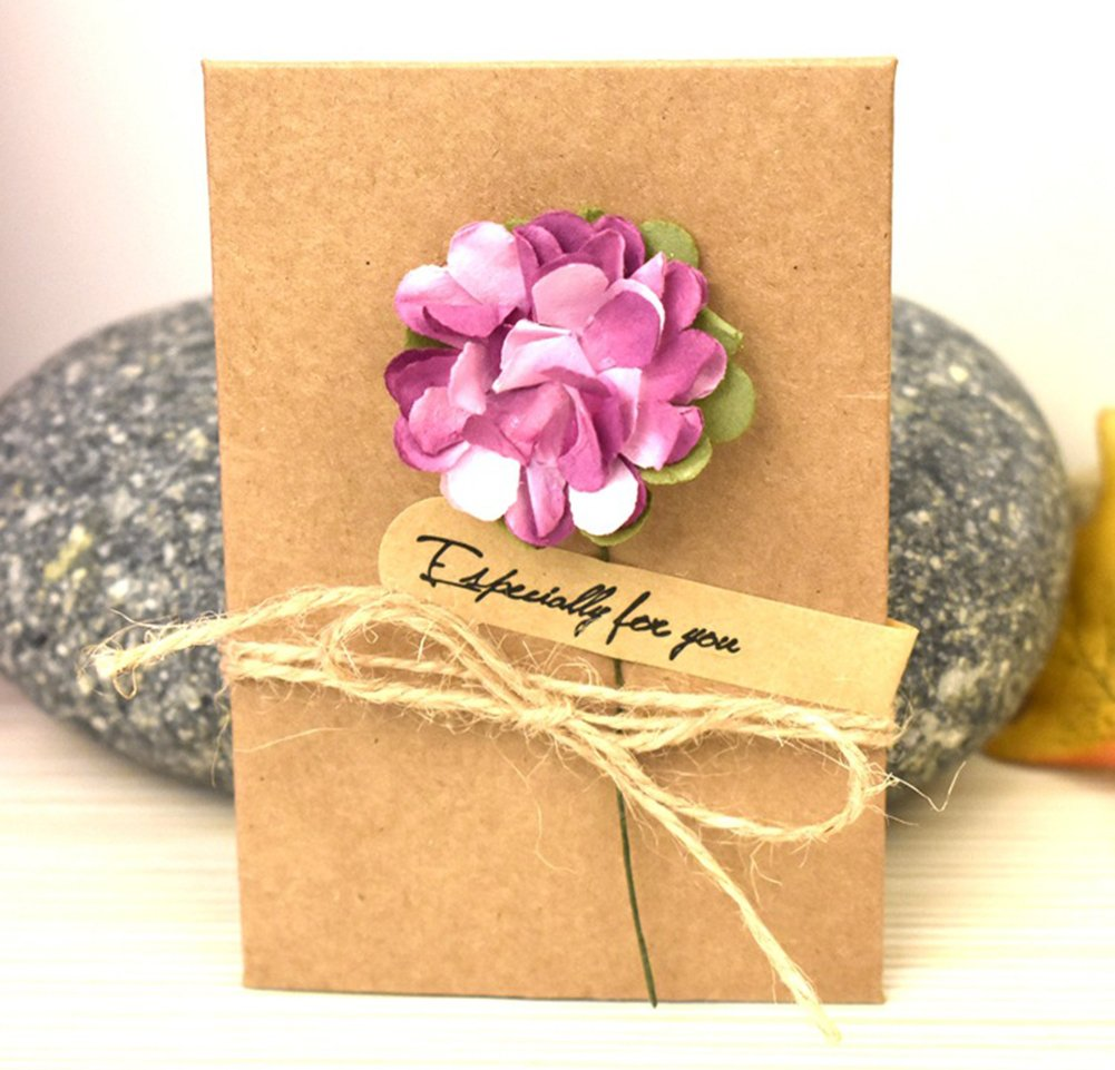 random Flower Style regalo ideale per la festa della mamma o per San Valentino 105*71 mm S 4.13*2.8 inch Carta matrimonio inviti Monbedos 10/pezzi biglietti d auguri fatti a mano retro Kraft Envelope Flower cartolina