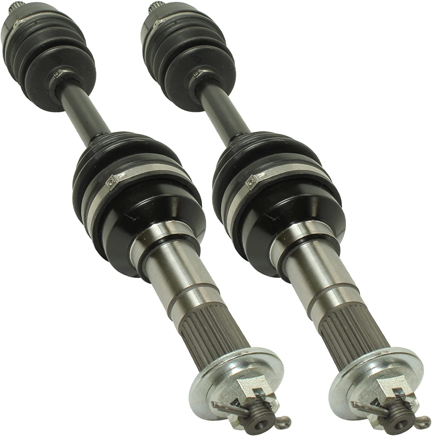 Qiilu CV Axle for 1989-1997 Yamaha BIG BEAR 350 YFM350FW 4WD Front Left//Right 2Pcs Complete Shaft Assemblies