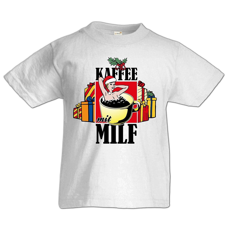 getshirts - Rocket Beans TV Official Merchandising - Kids Shirt Premium - Kaffee  mit Milf - XXX-Mas Edition: Amazon.de: Bekleidung