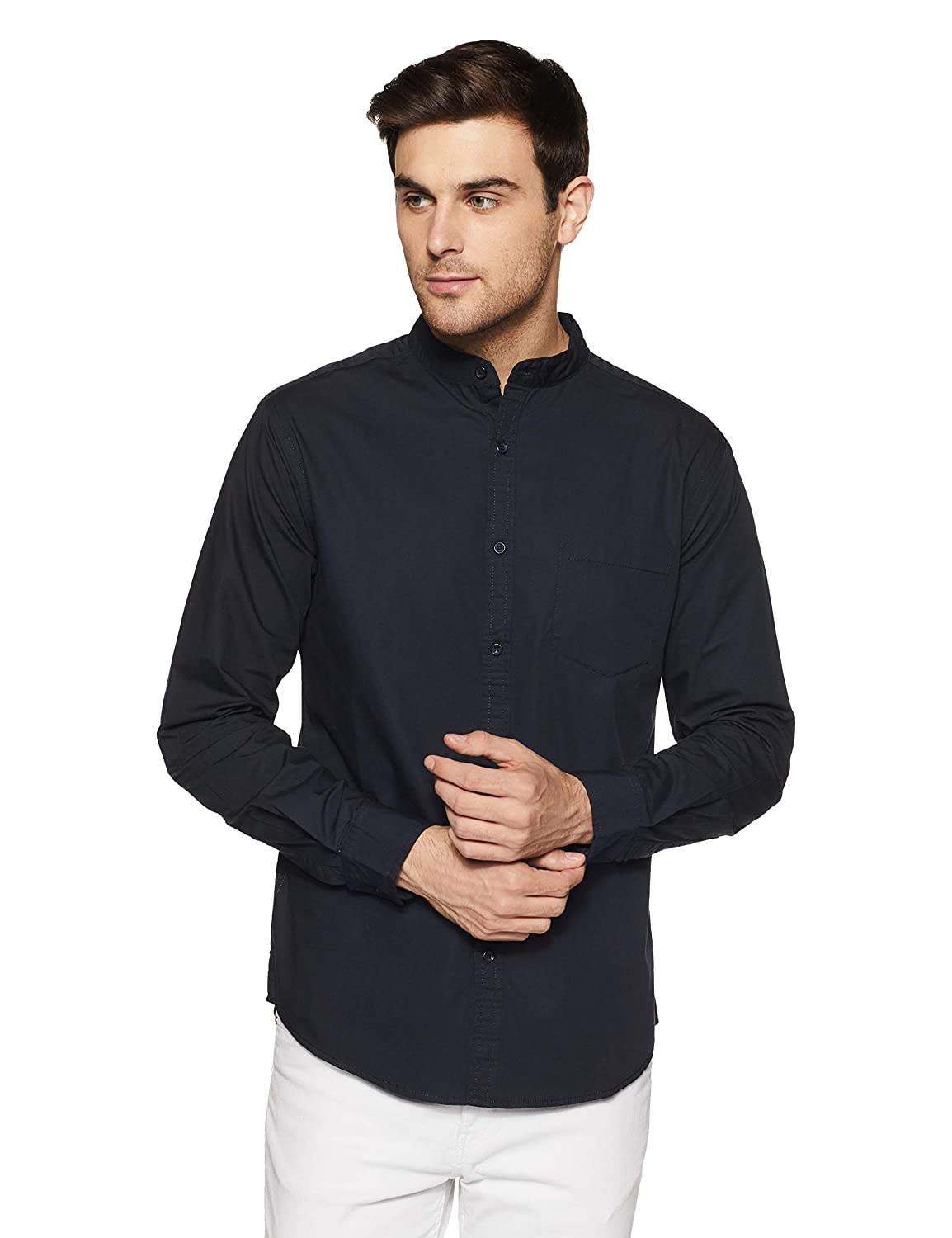 61976c488 Amazon Brand - Symbol Men's Plain Casual Shirt: Amazon.in: Clothing &  Accessories
