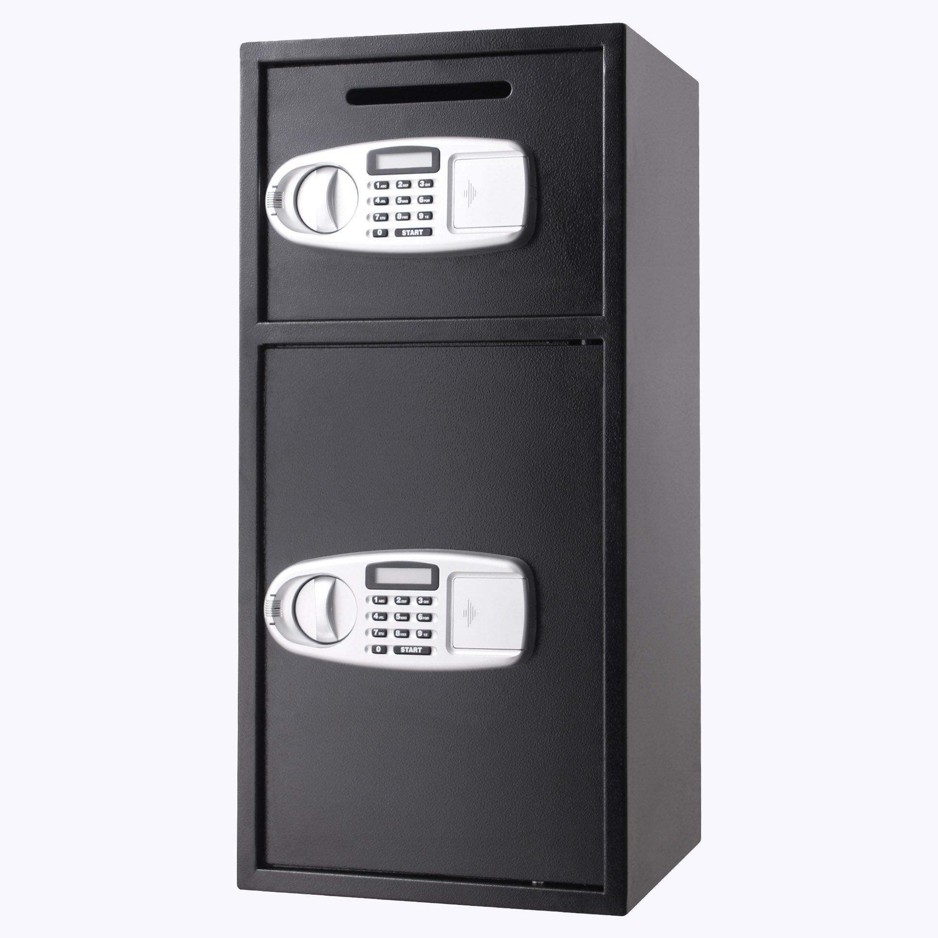 VEVOR Security Safe Box Double Door Digital Safe Depository for Money Gun Jewelry by VEVOR