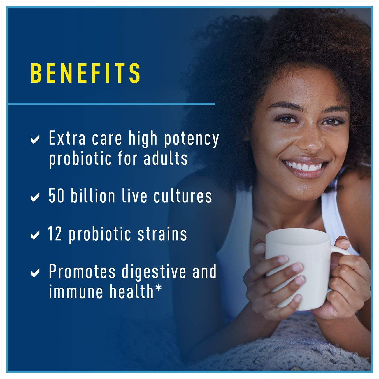 Renew Life Adult Probiotic - Ultimate Flora Probiotic Extra Care, Shelf Stable Supplement - 50 billion - 90 Vegetable Capsules (Packaging May Vary) by Renew Life (Image #2)