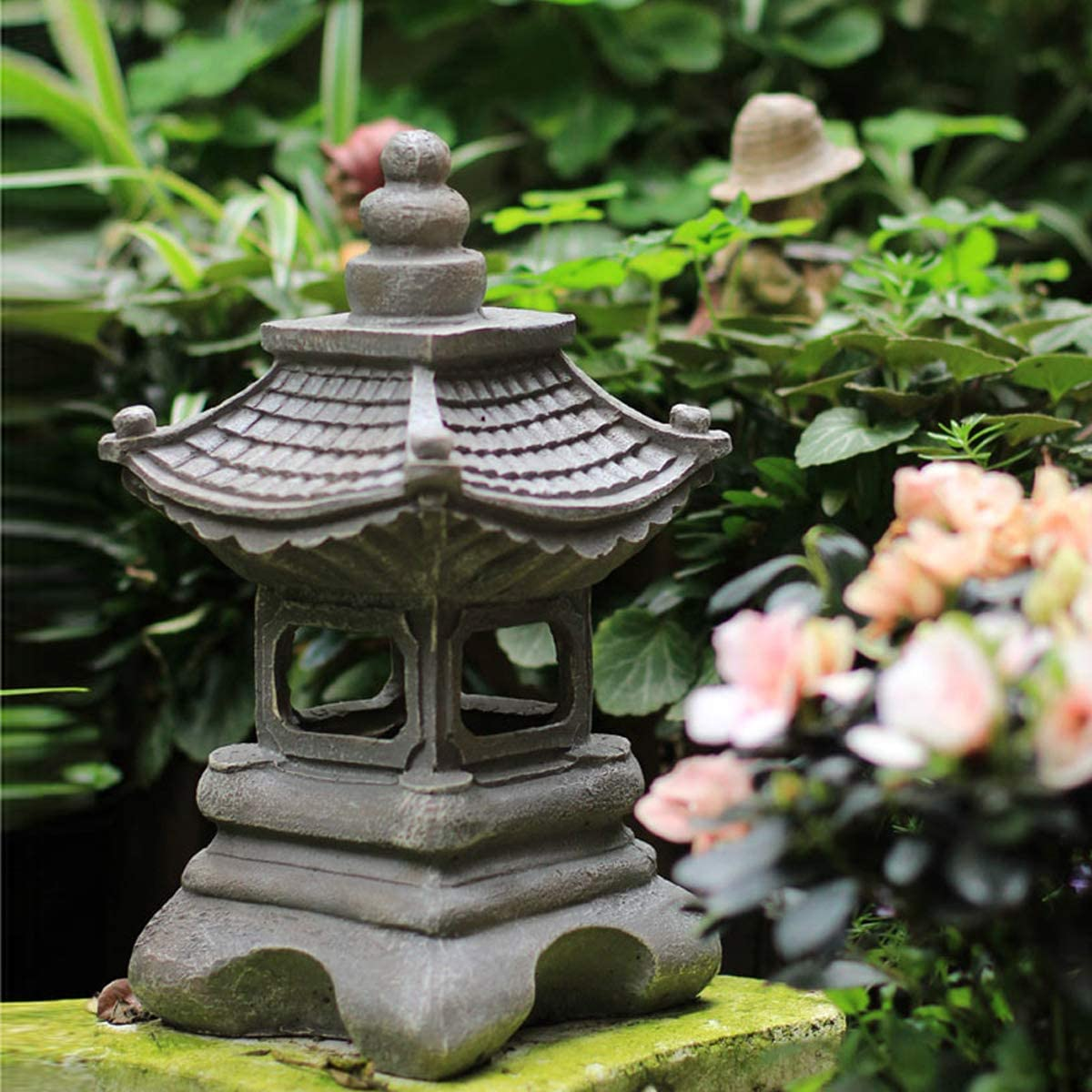 OwMell Japanese Style Asian Decor Pagoda Lantern Indoor Outdoor