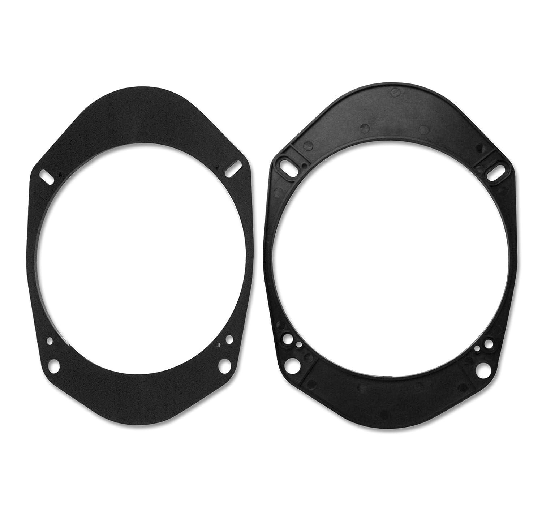 Watermark # # 6196p Bagues Adaptateur de Haut-Parleur pour Ford Focus/Fiesta/Ka/Mondeo, Transit, Tourneo–165mm, Vous pour l\'installation des Haut-parleurs Conventionnels