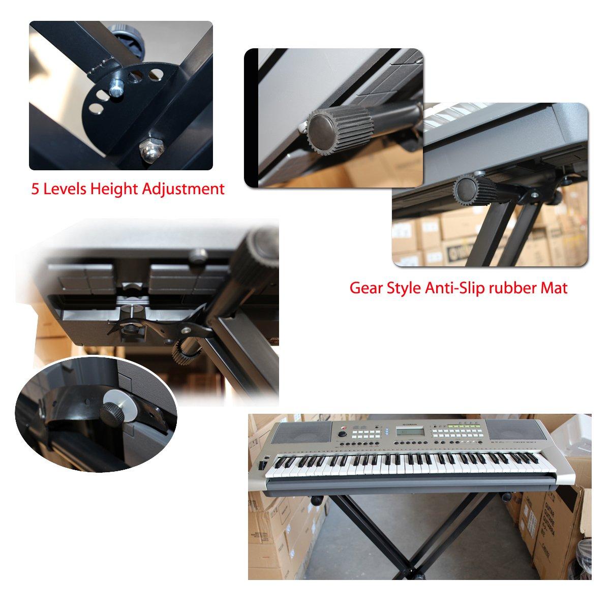 Yahee X-Keyboardständer Doppelstrebig (Größen (54/61/76/88-keyboard ...