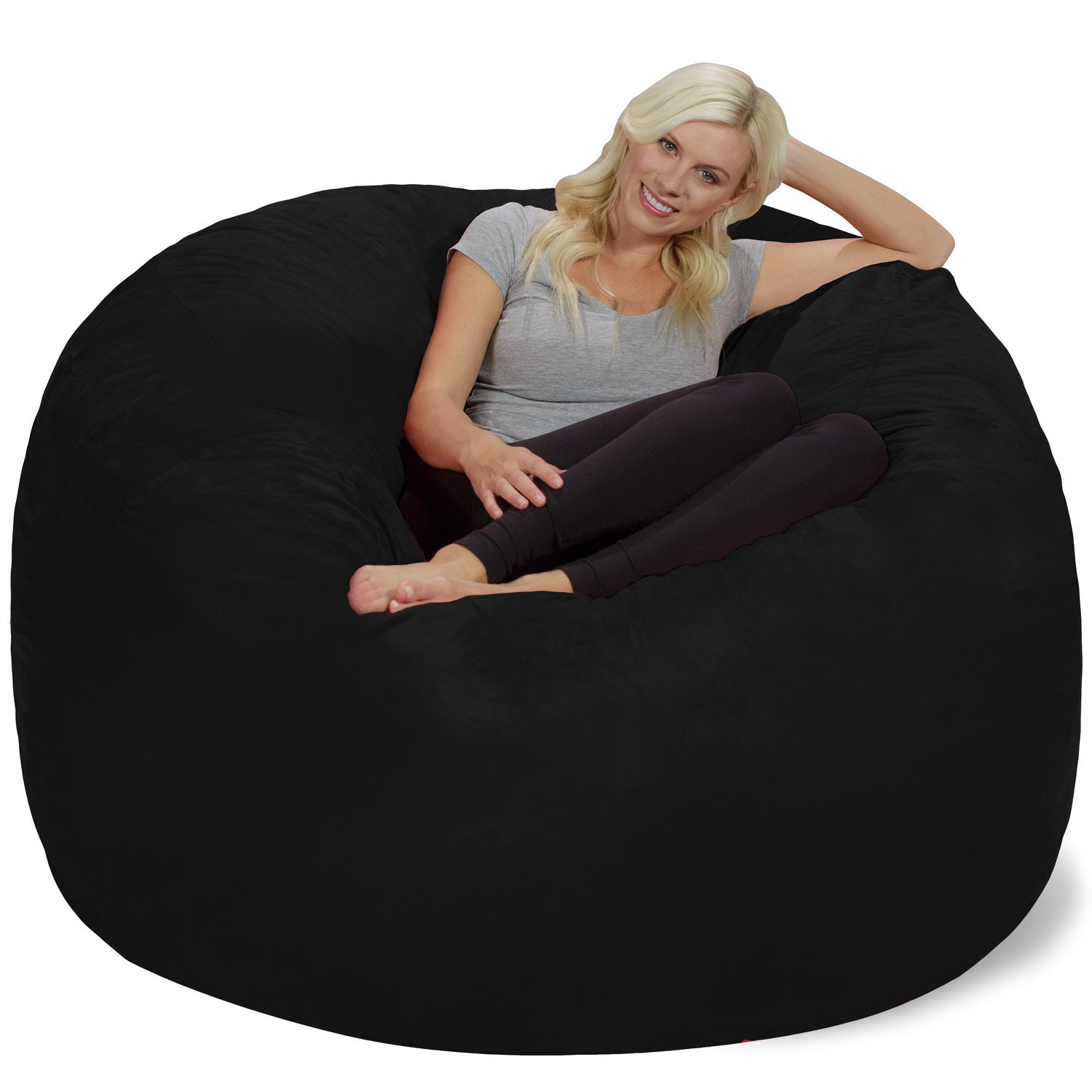 Amazon.com: Chill Sack - Bean Bags 6-Feet Bean Bag, Giant, Black: Kitchen &  Dining - Amazon.com: Chill Sack - Bean Bags 6-Feet Bean Bag, Giant, Black