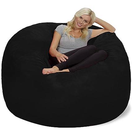 Chill Sack Bean Bag Chair: Giant 6u0027 Memory Foam Furniture Bean Bag   Big