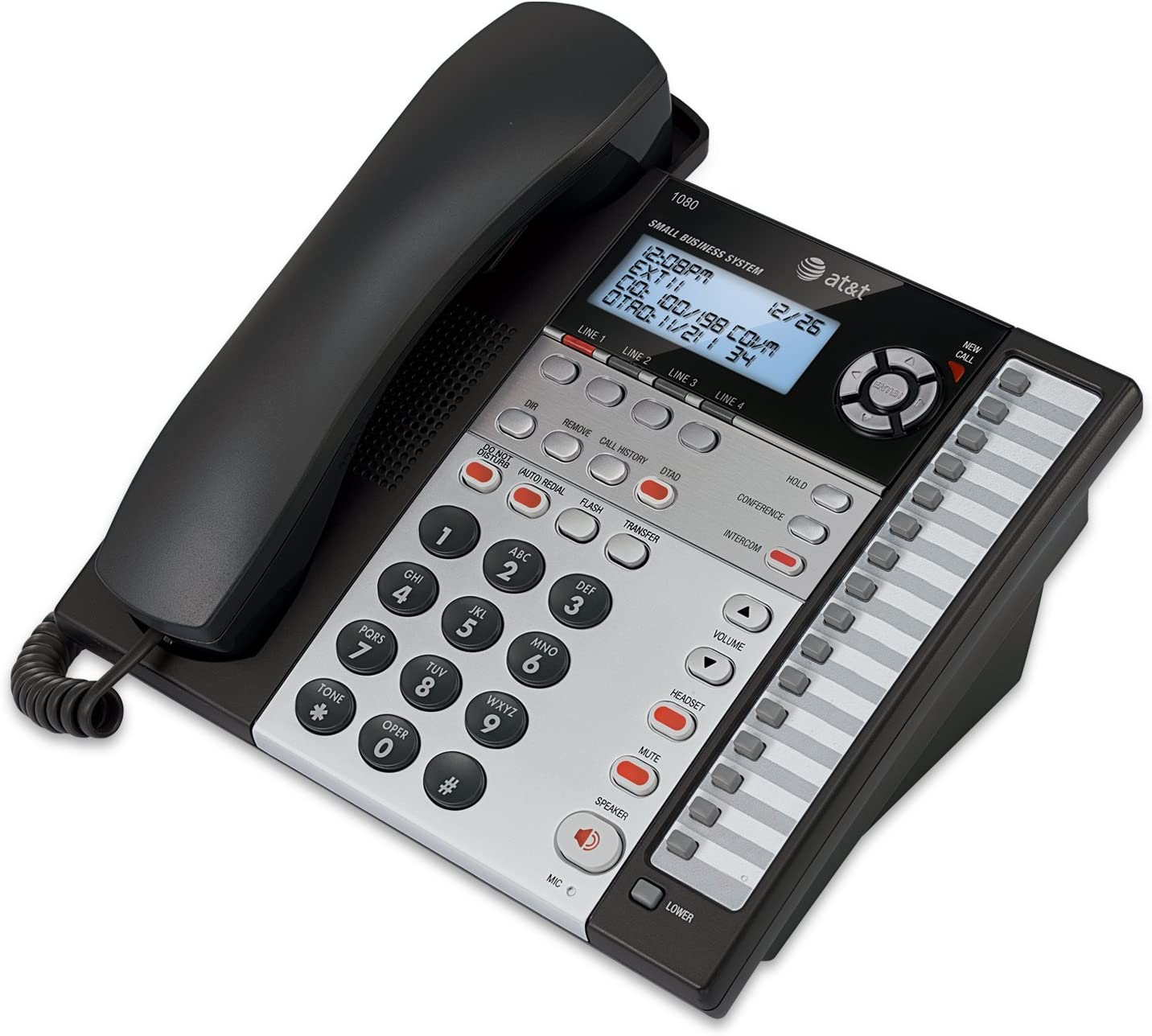 AT&T 1080 4-Line Speakerphone with Answering System and Caller ID