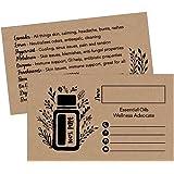 Amazon Com 25 4x6 Rustic Essential Oil Recipe Cards For