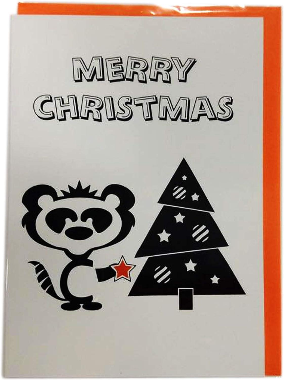 Feliz Navidad, Pack de 5 tarjetas de Navidad de lujo – de buen humor tarjetas de felicitación con divertido Poetic verso por curioso tarjetas 5 x 7 pulgadas: Amazon.es: Oficina y papelería