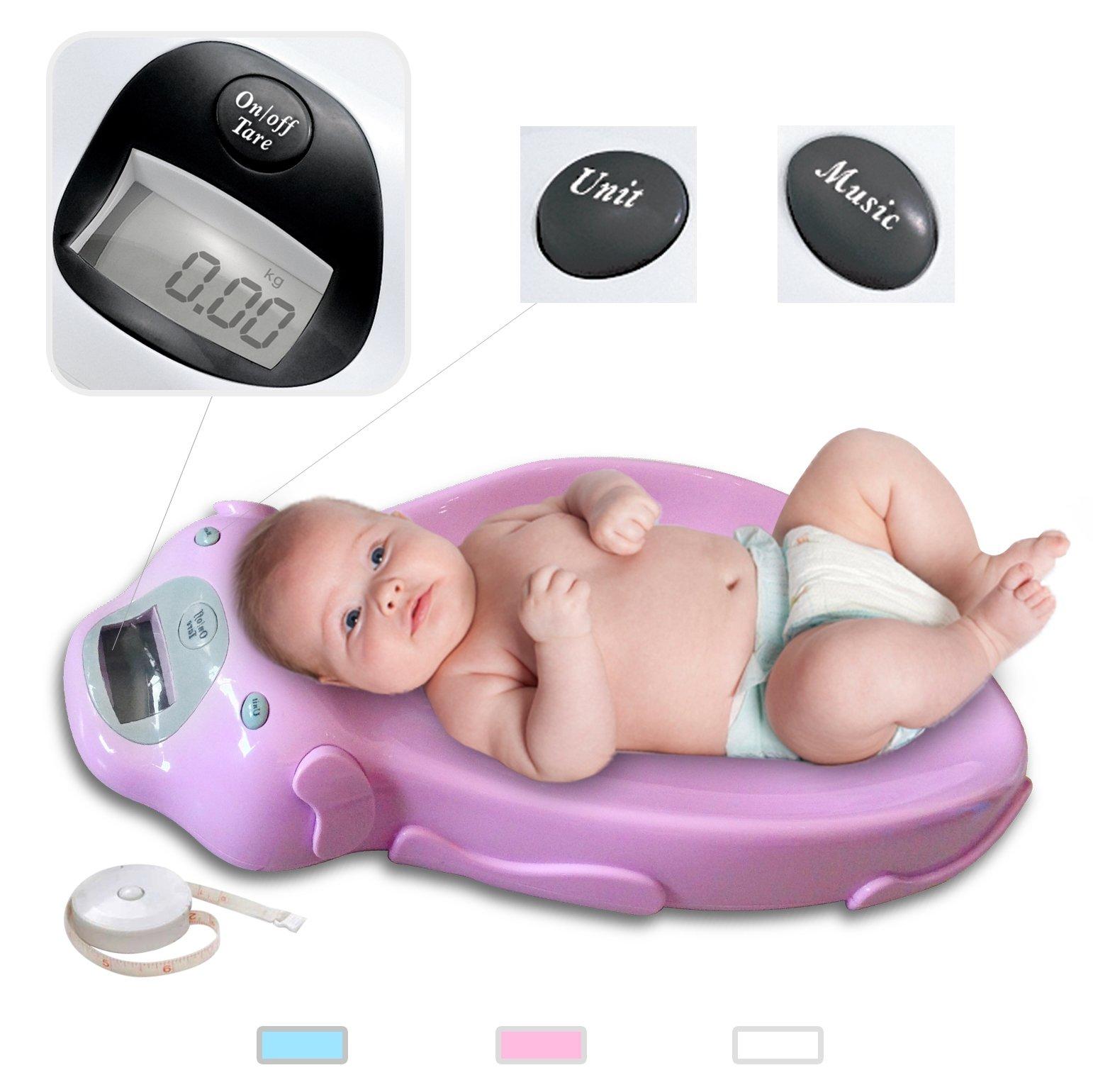 Todeco – Báscula de bebé eléctrica– Medidas: 65,40 x 33,2
