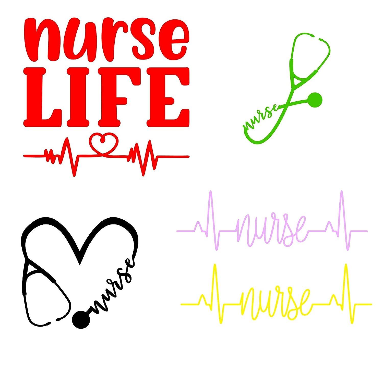 rn life nurse practitioner,nursing school,registered nurse,cna nurselife heartbeat,stethoscope nurses week EKG nurse life vinyl decal sticker scrubs,student nurse scrublife nurses day