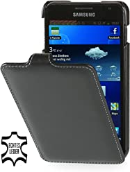 StilGut UltraSlim Case, custodia in pelle per Samsung Galaxy Note 1 N7000, nero - nappa
