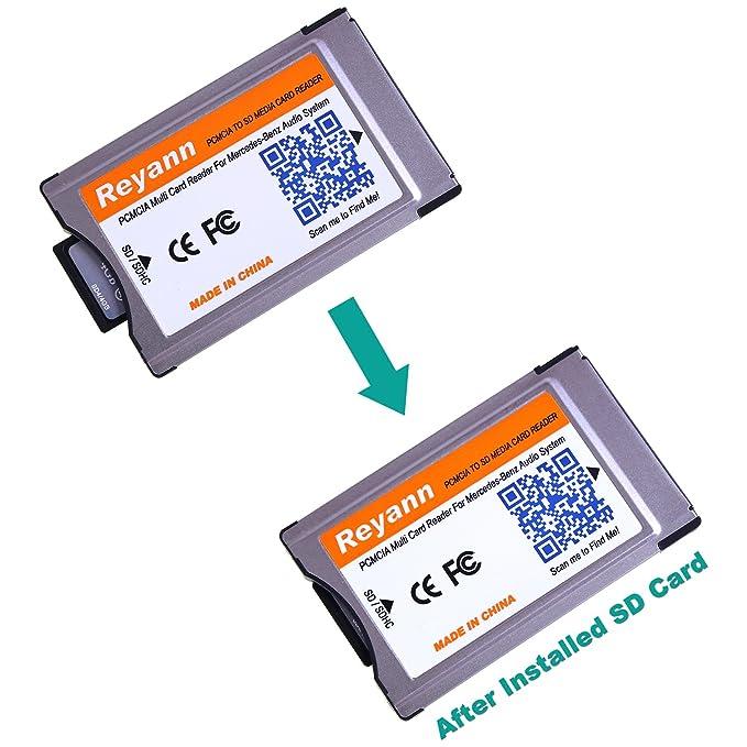 16G SD Card + PCMCIA al adaptador de la tarjeta del SD para Benz Comand APS C197 W212 W204 W221 W207 con la ranura de la PCMCIA Maxim Support 32GB ...