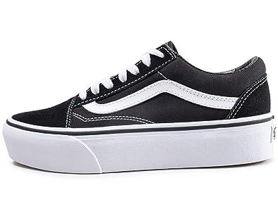 Vans Old Skool, Unisex Erwachsene Low-Top Sneaker, schwarz/weiß ...