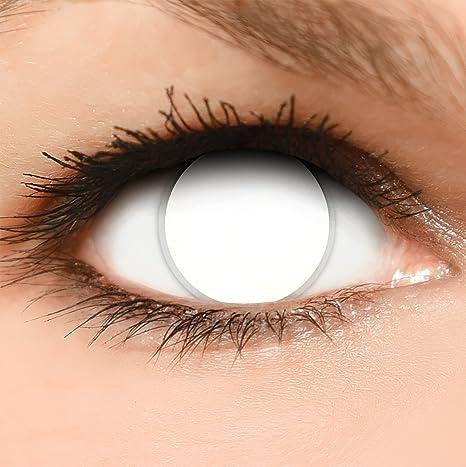FUNZERA® Lentilles de Contact de Couleur Blanche  Blind White  + Récipient  Gratuit - 36bd6b96236d