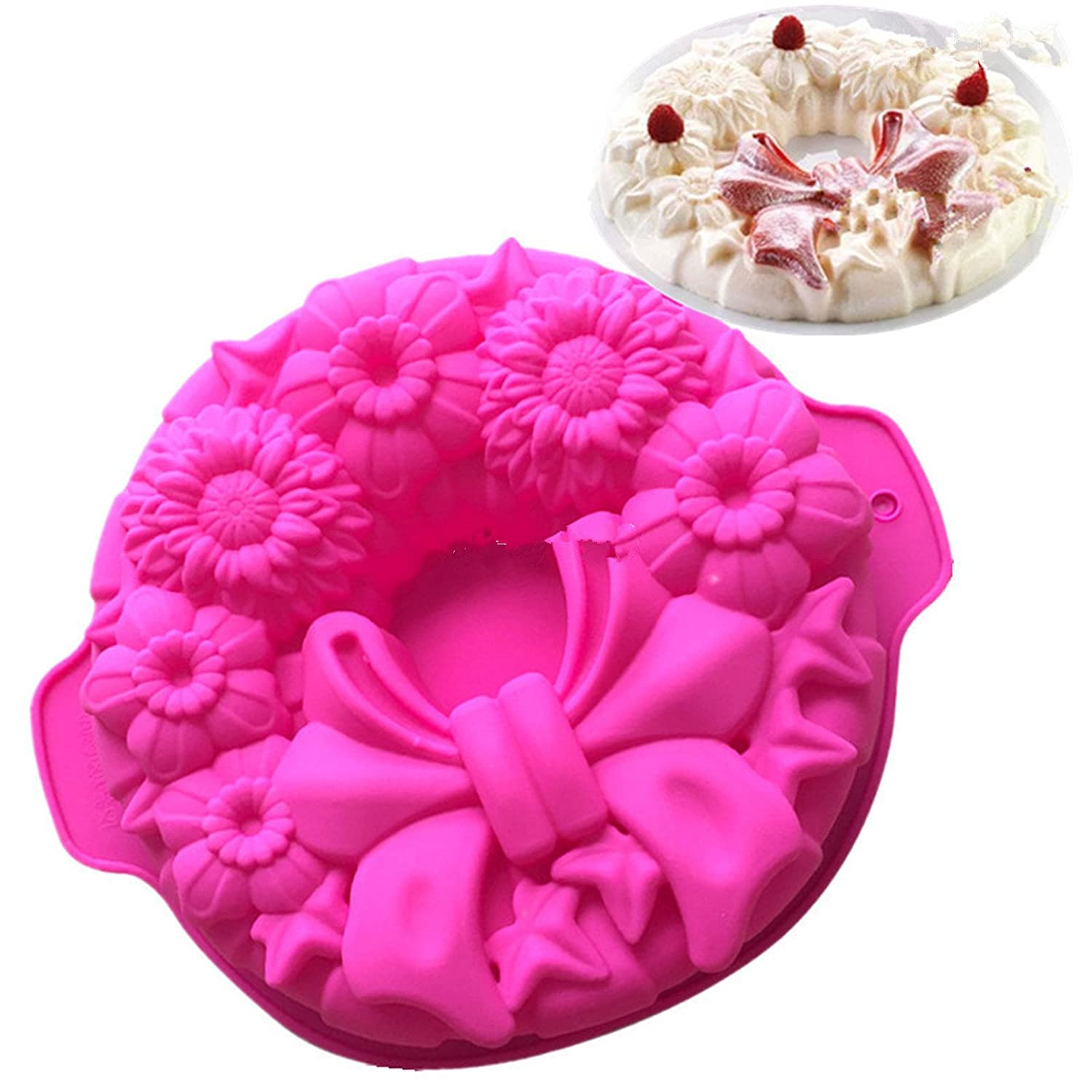 FantasyDay® Silicone Mould, 9.5'' Peacock Tail Birthday Cake Mold Silicone Baking Molds Party Cake Bakeware for Your Birthday Dessert, Cake, Bread, Tart, Pie, Flan and More